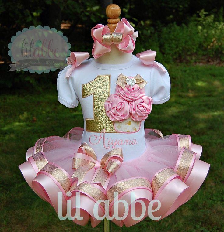 Gathered Satin Rosette Cupcake Tutu Set in Light Pink and Gold~Fabulously Feminine! by lilabbehandmade on Etsy https://www.etsy.com/listing/198064728/gathered-satin-rosette-cupcake-tutu-set