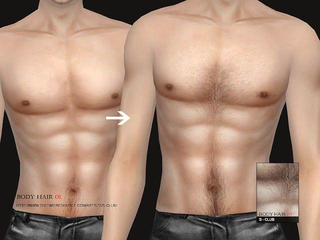Sims 4 CC's - The Best: Body hair by S-Club   Sims 4 CC's ...