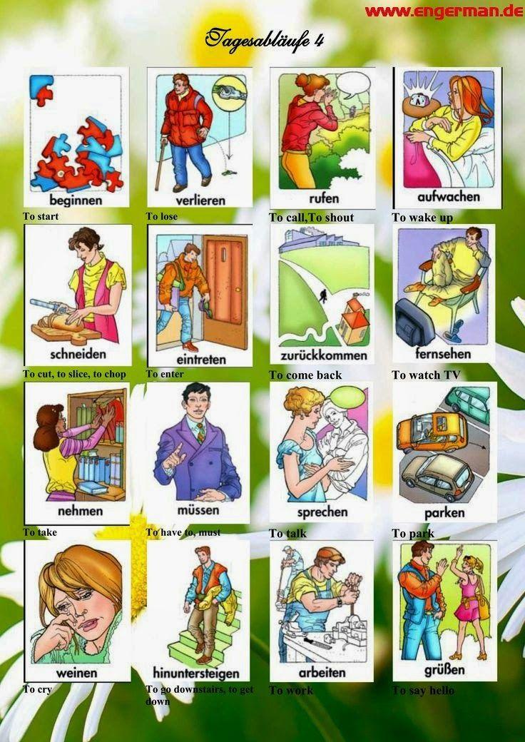 German Vocabulary - Tagesabläufe