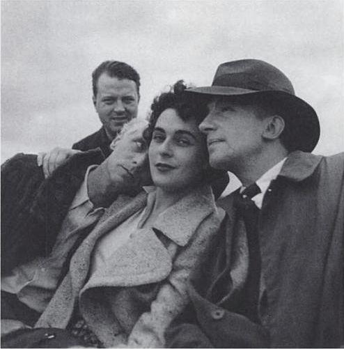 Leonora Carrington, Max Ernst + Paul Éluard by Lee Miller