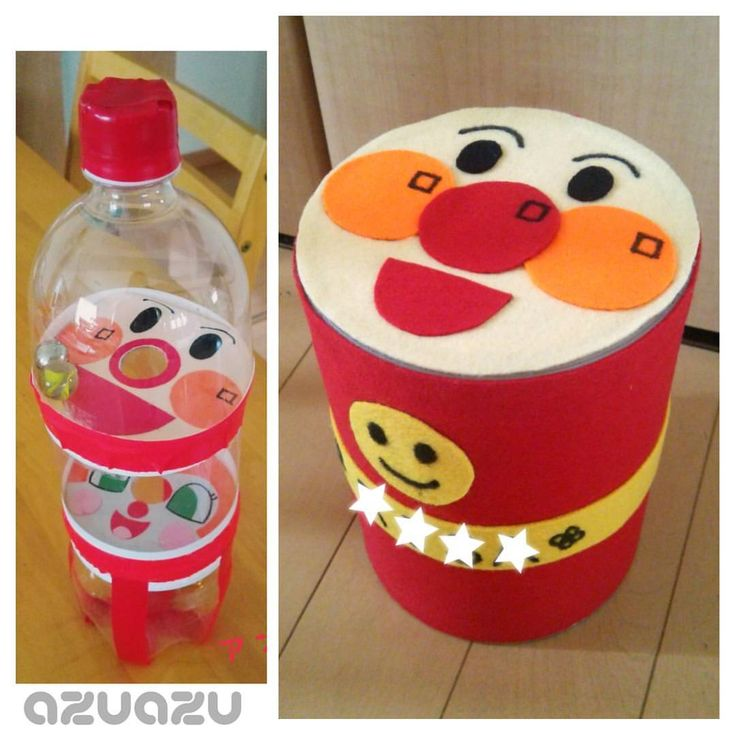 支援センターで作ったアンパンマン太鼓&鈴おとし  作り方を暮らしニスタにまとめました~ #アンパンマン #手作り玩具 #おもちゃ #工作 #ペットボトル #ミルク缶 #赤ちゃんのおもちゃ #リメイク  - azuazu_1029