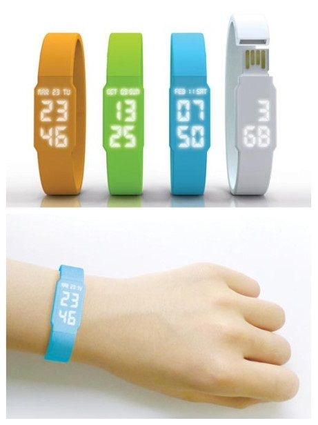 This simple USB watch with exterior design is designed for convenient usage of both a watch as well as a USB. The watch could be connected with the computer to achieve direct synchronization. Its power could be fully charged within 10 minutes. There is a built-in storage card in the strap.