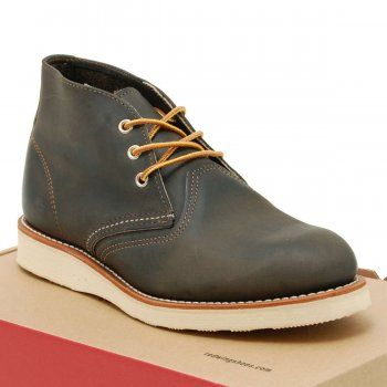 Red Wing Chukka 3150 Charcoal Rough & Tough - Mens Clothing from Attic Clothing UK