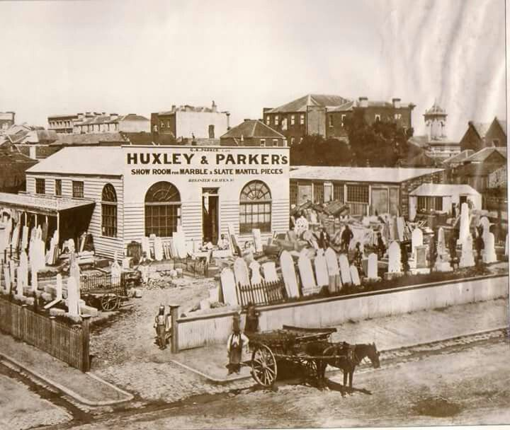 Little Collins St and Russell St in Melbourne in 1870.