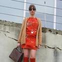 Floral dress  , Uterqüe en Gafas / Gafas de sol, Mango en Vestidos, Zara en Tacones / Plataformas, Uterqüe en Bolsos,  en Cardigans