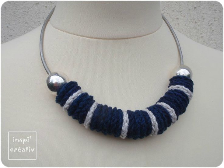 17 meilleures id es propos de collier au crochet sur - Bijoux au crochet modele gratuit ...