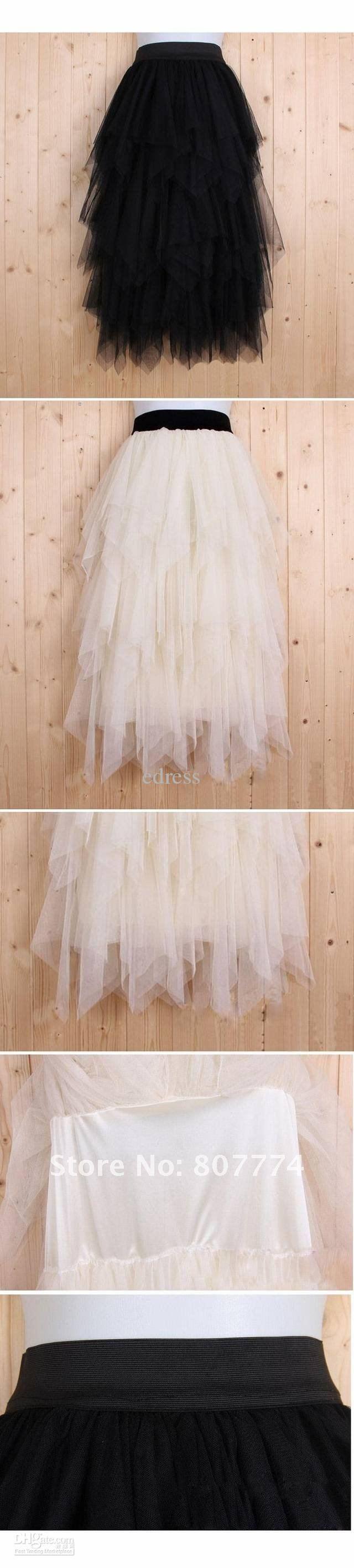 Image detail for -... Women tulle skirt long ball skirt black/apricot skirt promotion