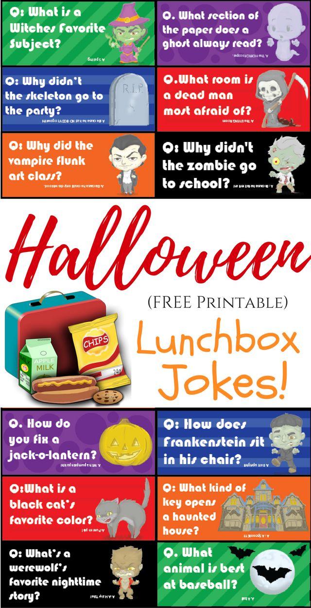 Spooktacular Halloween (Printable) Lunchbox Jokes!