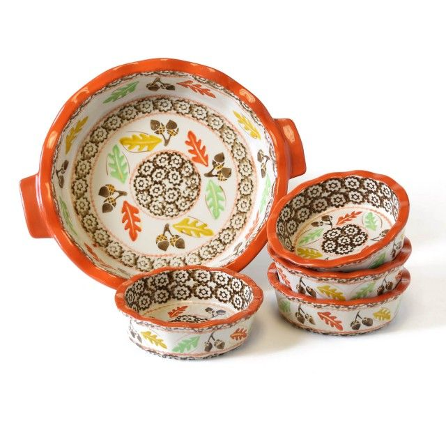 temp-tations® Old World 6-pc. Stoneware Baking Set in Harvest :: temp-tations® by Tara