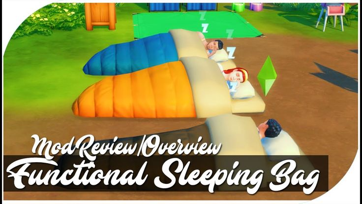 LOS SIMS 4 l FUNCTIONAL SLEEPING BAG l MOD REVIEW/OVERVIEW