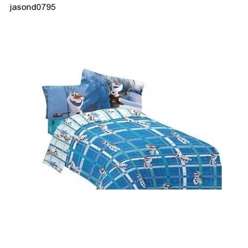 Frozen Disney Olaf bed sheets set Build Microfiber Comforter Twin/Full Sheet Set