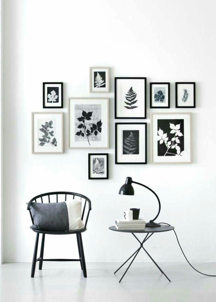 Monochrome, black & white gallery wall