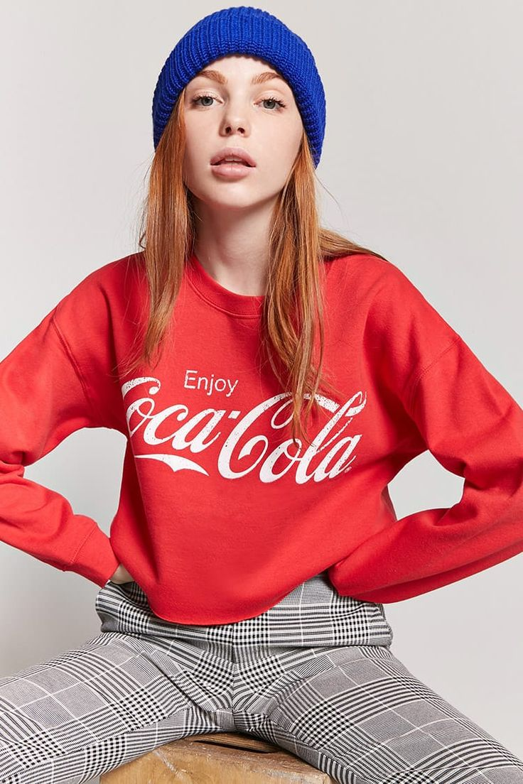 Product Name:Coca-Cola Graphic Sweatshirt, Category:top_blouses, Coca Cola Wallpaper, Coca Cola Ad, Coke Ad, Bookmarks Kids, Foto Pose, Girls Sweaters, Diy Fashion, Hot Girls, Latest Trends