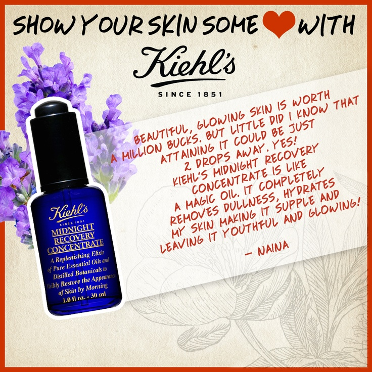 Kiehl's Midnight Recovery Concentrate is everyone's favourite! Join us on Twitter - https://twitter.com/KiehlsIndia
