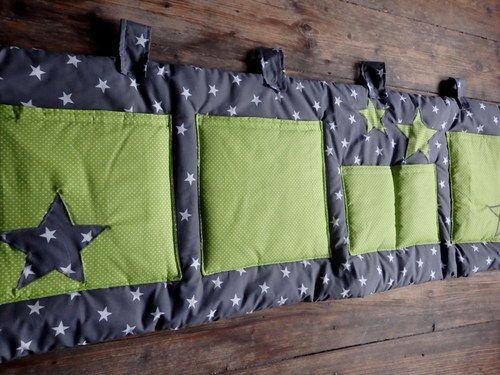 Kapsář za postel...hvězdné nebe...zelené -200x50cm
