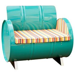Eclectic Outdoor Lounge Chairs by Drum Works Furniture