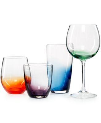 The Cellar Colored Glassware Collection