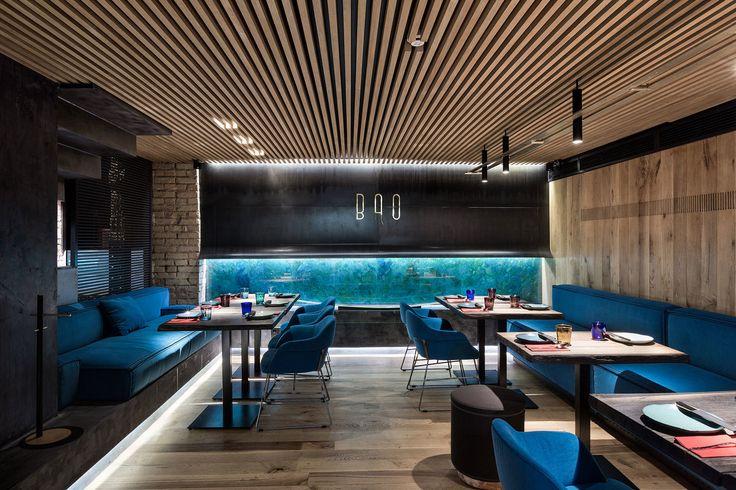 Дизайн интерьера ресторана BAO by Postformula. Modern restaurant design interior.