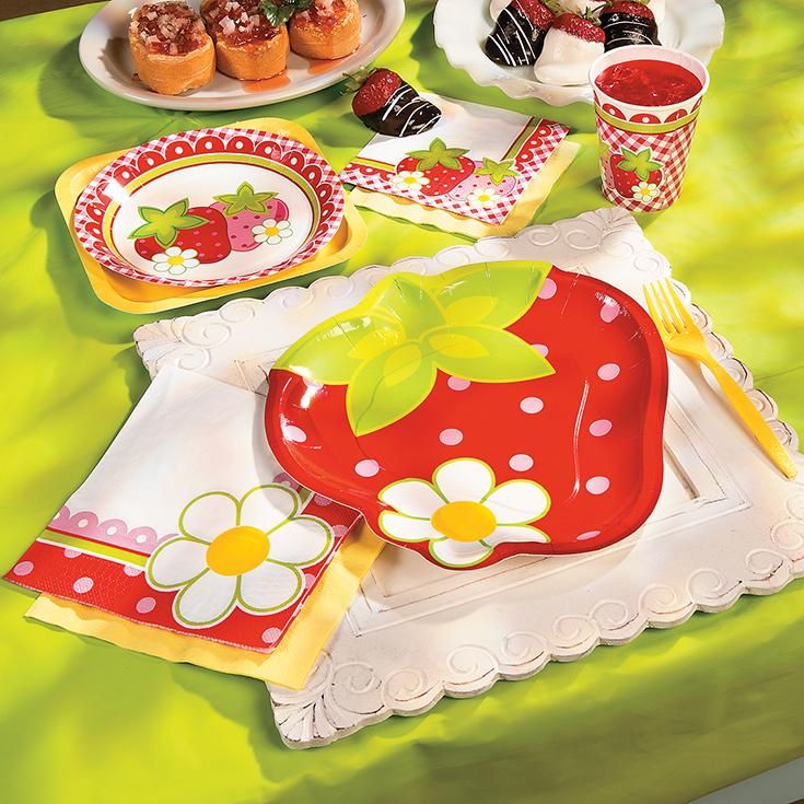 Berry 1st Birthday Party | A berry fun choice for a 1st birthday party, these strawberry birthday party supplies are perfect for a sweet birthday celebration. #berry #birthday #party