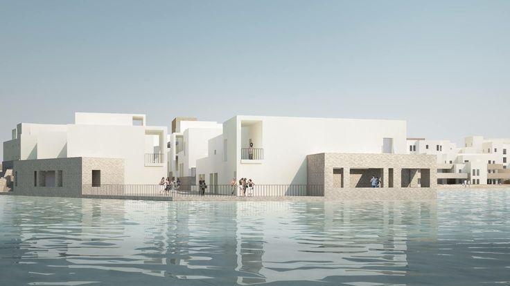 Beach Terraces - Aqaba / Jordan #architecture #designer #ramizayoub @ramizayoub @nisreen_alfar @symbiosisdesigns #architecture #architect #beach #beach Terraces #terrace #seafront #beachterraces #jordan #architect #architecturaldesign #light #courts #interior-design