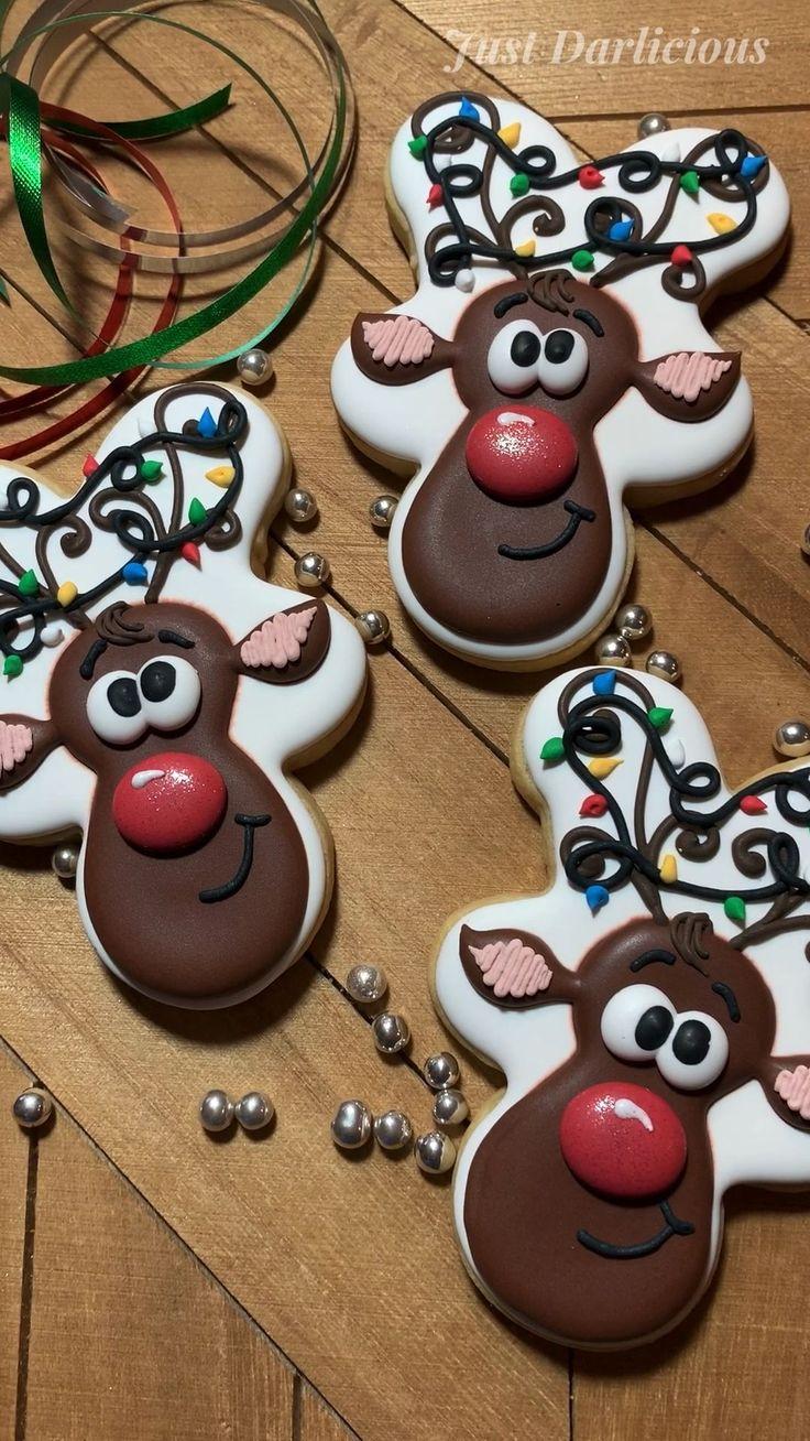 Rudolf cookies, Cookies Rudolf in 2020 Christmas