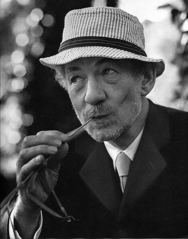 """Try and understand what part you have to play in the world in which you live. There's more to life than you know and it's all happening out there. Discover what part you can play and then go for it.""  ~Sir Ian McKellen (photo by Bruce Weber)"