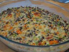 Gratin de lentilles aux lardons - Recette de cuisine Marmiton : une recette