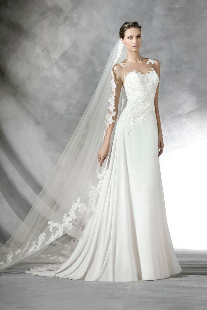 Pronovias prada at the bridal collection in denver co for Wedding dress shops in denver