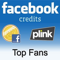 Want to Win 100 or 250 Facebook Credits?    Become a fan of Plink's Facebook page and join on the Rewards page for a chance to win daily, weekly and monthly Facebook Credit giveaways!  Add your comments, share and like Plink's wall posts for a chance to win.  http://on.fb.me/I17cTC