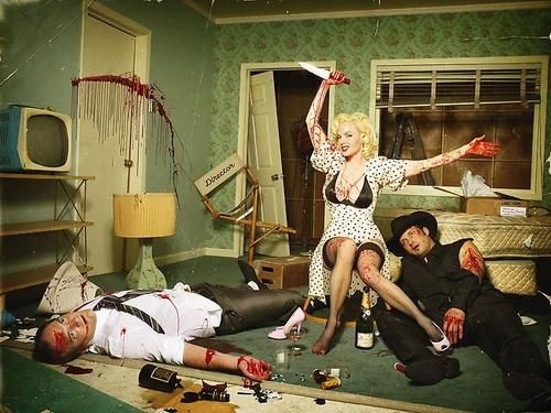 The Blood Brothers (Quentin Tarantino & Robert Rodriguez) by David Lachapelle