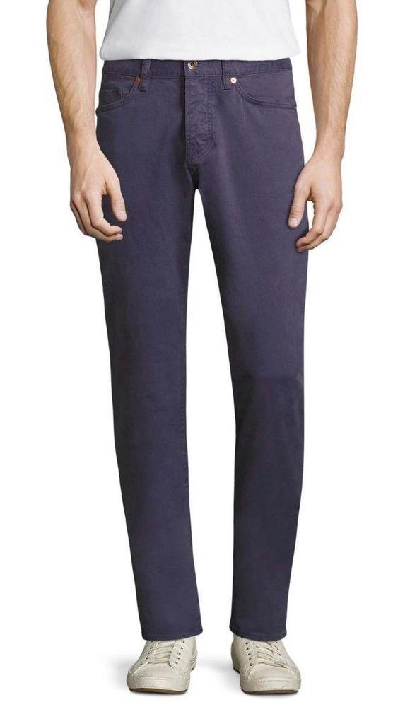 34d90e9007c8 Jack Spade Men's Stonehill Slim Fit 5 Pockets Trousers 4 Button Fly Navy  Blue 29 #JACKSPADE #SlimFit
