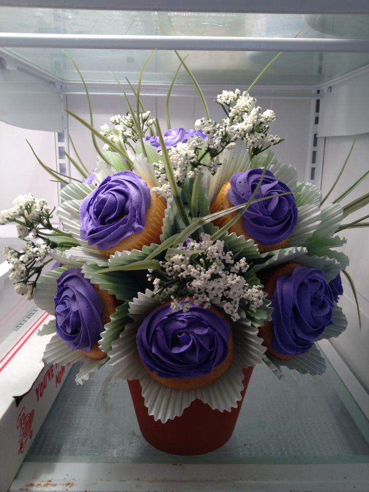 cupcake rose bouquet, 45.00