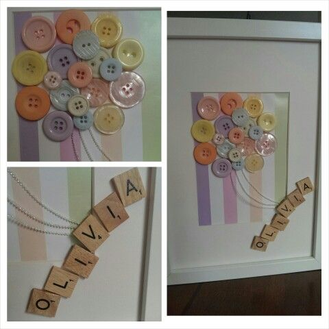 Baby Gifts - Buttons, Scrabble