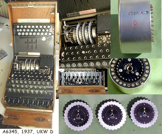 The Enigma crypto machine from WWII