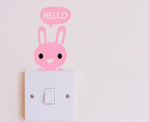 .: Kids Nurseries, Bunnies Lights, Hello 2012, Cute Ideas, Peeps Bunnies, Ideas Para, Hello Bunnies, Lights Decals, Kids Rooms