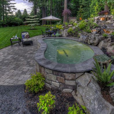 Best 10 swimming pool images on pinterest other for Above ground pond ideas