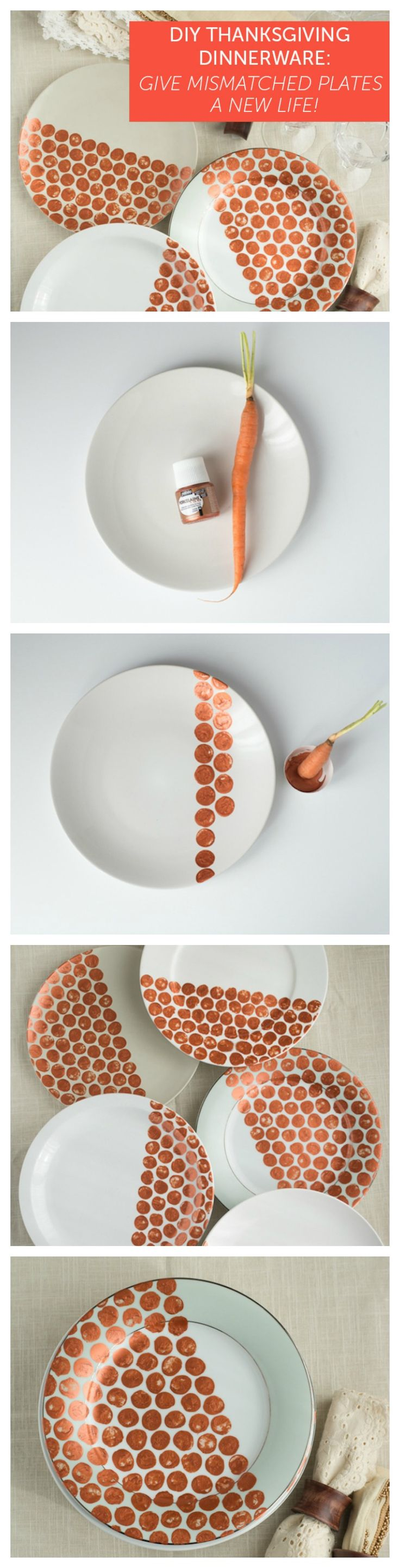 Hosting Thanksgiving this year? You might not have enough plates... so DIY inexpensive plates for a fun festive look!