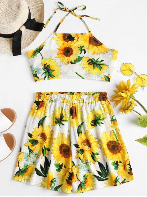 4c100c5b8593 Shop for Sunflower Top Shorts Two Piece Matching Set MULTI: Two-Piece  Outfits S at ZAFUL. Only $15.49 and free shipping!