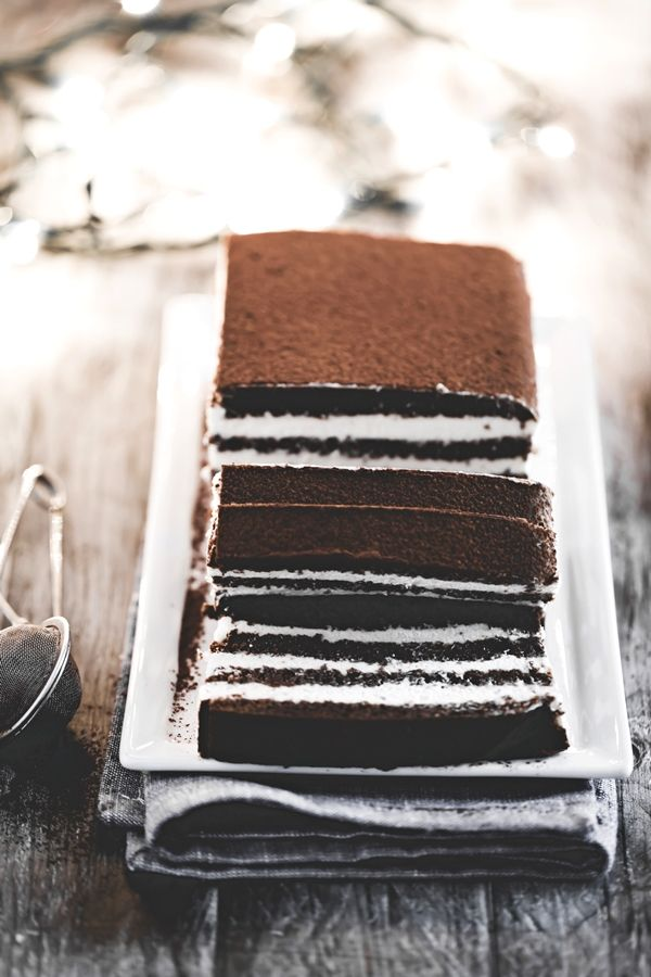 Chocolate rum layer cake - cake layered with chocolate and rum (translate from Italian)