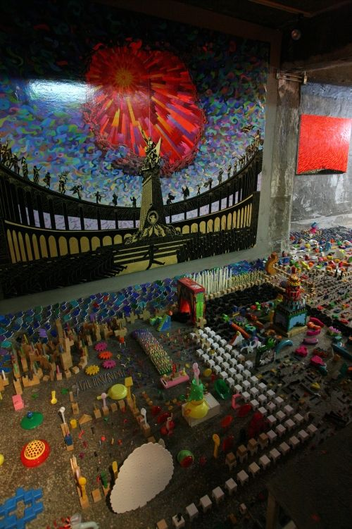 Ahn Doojin.. Covert Party at Makom, Insatallation detail shot.