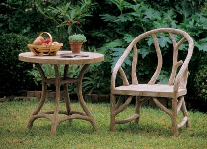 faux bois arbor chair charleston gardens concrete picnic tables pinterest faux bois. Black Bedroom Furniture Sets. Home Design Ideas
