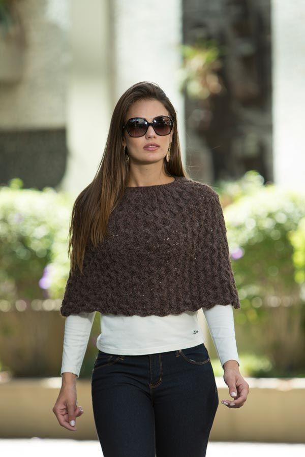 Pelerine Marrom – Fio Cisne Maya – Blog do Bazar Horizonte – Maior Armarinho Virtual do Brasil