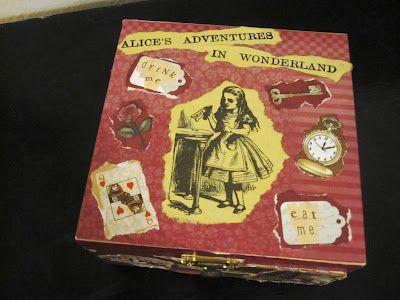 DIY alice in wonderland trinket box