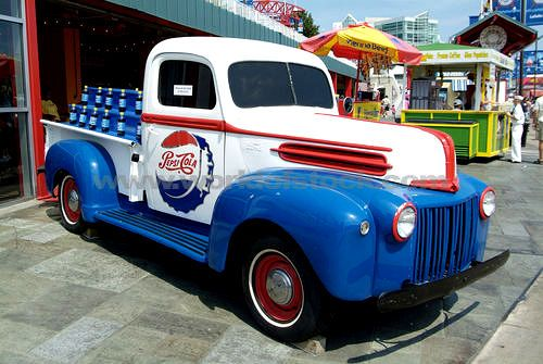 classic pepsi images | ... Of Chicago Illinois IL Old Pepsi Truck ...