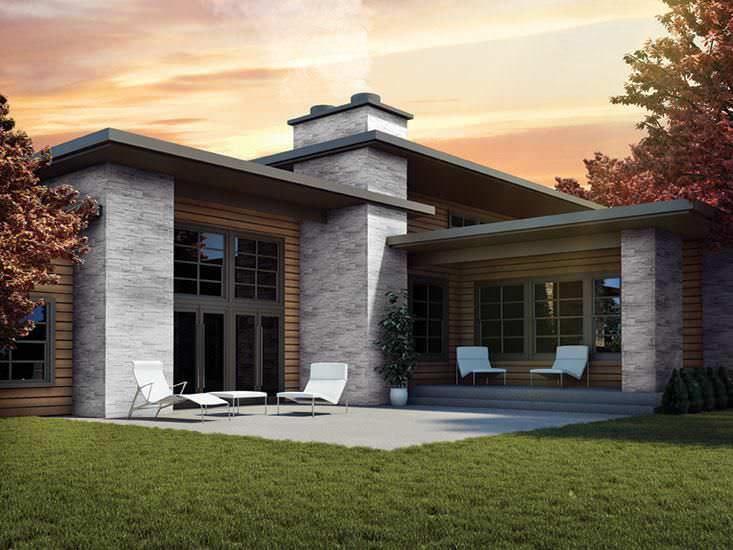 Revestimiento de fachada de material compuesto texturado - Revestimiento de ladrillo ...
