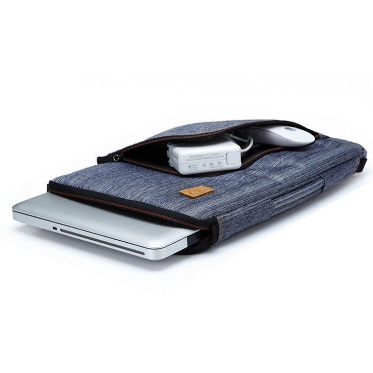 2016 Мода многофункциональный Джинсовая Laptop Sleeve Сумка Регулируемый Плечевой Ремень Для 13 Дюймов Ноутбук/MacBook купить на AliExpress