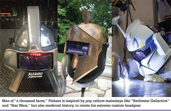Custom welding helmets