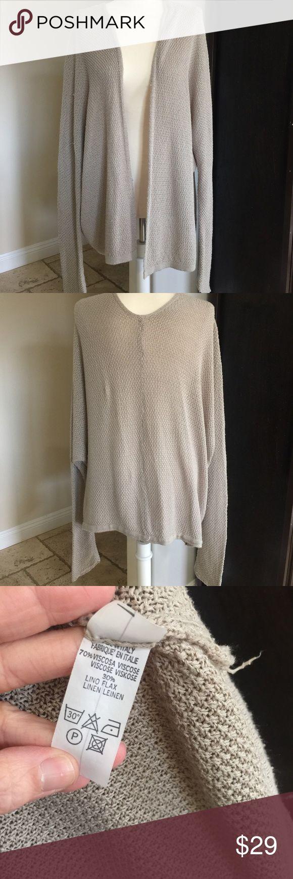 Brandy Melville cardigan Tan, open front, knit, over sized, one size. Brandy Melville Sweaters Cardigans