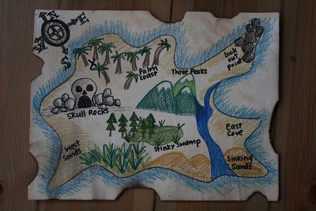 treasure map art project for kids - Google Search