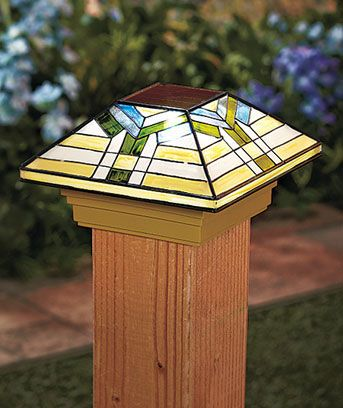 Solar Post Cap Lights   Mission Style   $9.99 Each   Need 4